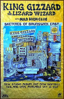 king gizzard the lizard wizard sketches of brunswick ltd ed rare tour poster ebay