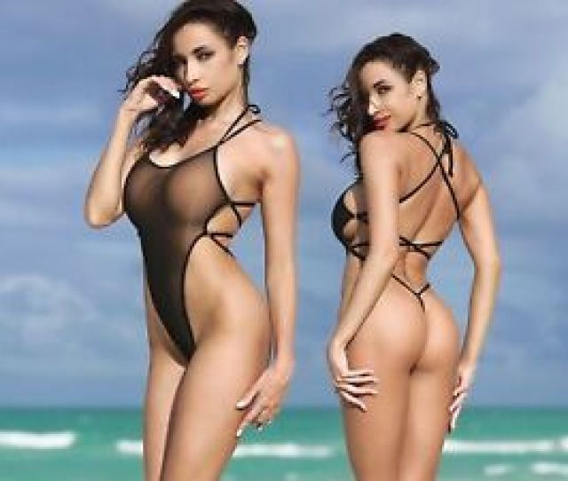 Image Is Loading Ts Exotic Black One Piece Swimsuit Extreme Thong