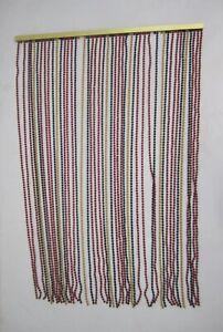 details about vtg 60 70s beaded door curtain window divider 35 panel plastic beads beauti vue