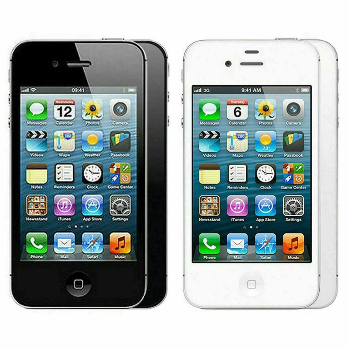 Apple iPhone 4s 16GB 32GB 64GB Schwarz Weiß Smartphone  Händlerware
