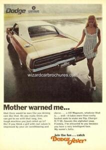 details about 1969 dodge charger rt mopar hemi a3 poster ad sales brochure advertisement