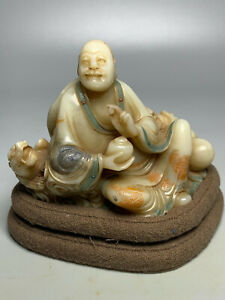 Chinese Antique Collection ShouShan Stone Figure Statue