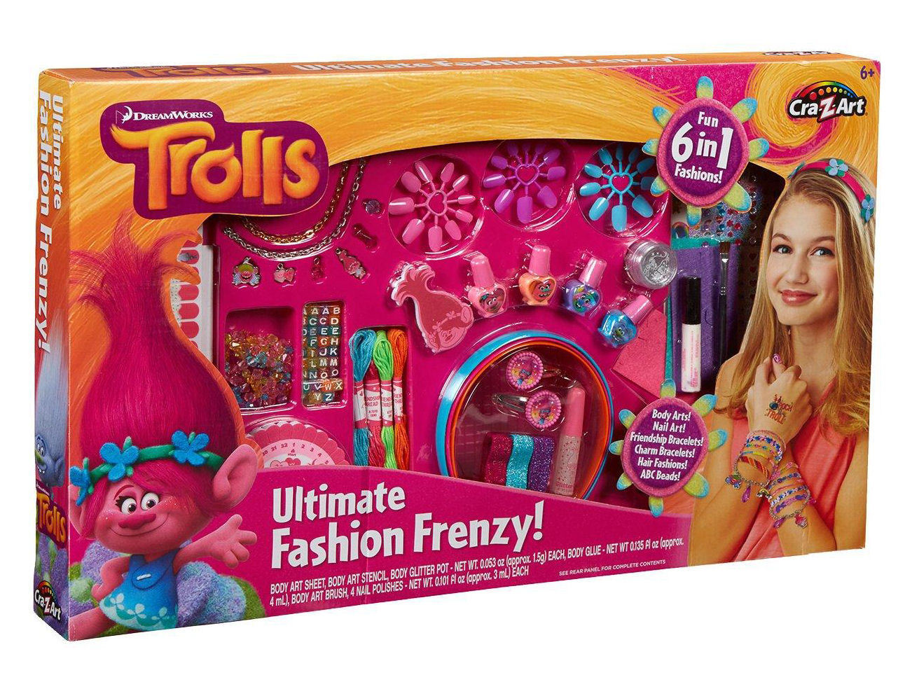 CraZArt Trolls 6 in 1 Ultimate Fashion Frenzy Set Jewellery Jewelry       res content global inflow inflowcomponent cancel