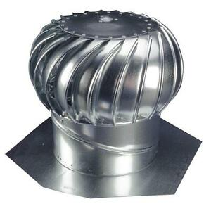 details about 12 whirlybird attic steel wind turbine roof vent exhaust fan rotary ventilator
