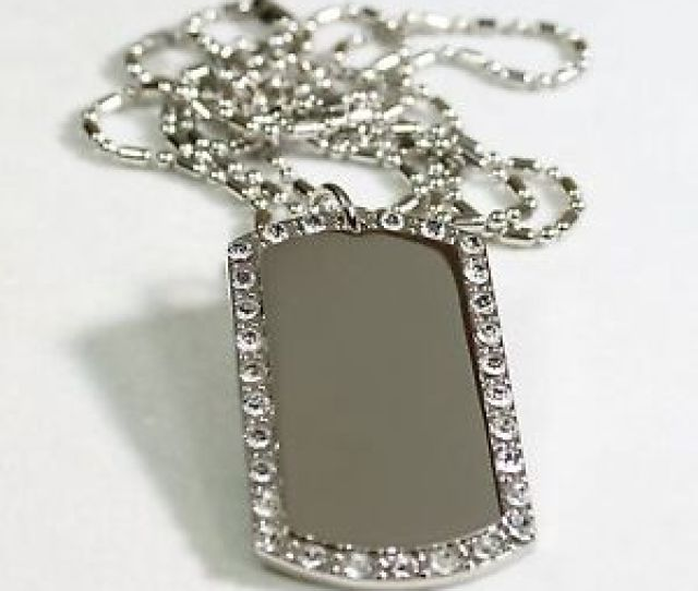 Image Is Loading Silver Tone Cz Bling Iced Out Ice Custom