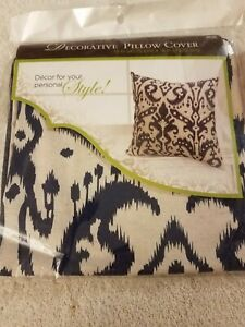 details about hobby lobby pillow cover 18 x 18 blue and white