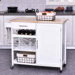 Kitchen Island With Granite Top Large Cart Wheels Cabinet Countertop Storage For Sale Online Ebay