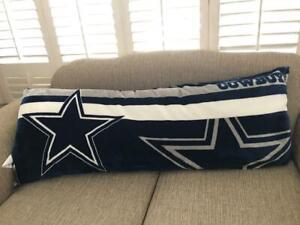 details about nfl dallas cowboys body pillow 20 x 52 super soft