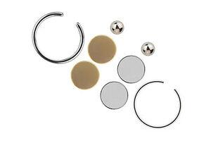 Fake Piercing Fakepiercing Magnet Piercing Ohrstecker 8 teilig Kugel 3mm