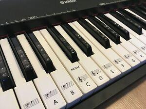 details sur 61 piano clavier amovible autocollants pour noir et blanc notes avec notation afficher le titre d origine