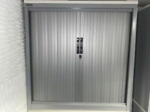 details about silverline metal cabinet storage with sliding doors