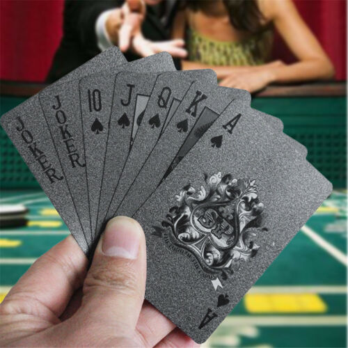 Diamond-Black-Plastic-PET-Gold-Poker-Playing-Cards-Plastic-Poker-Waterproof