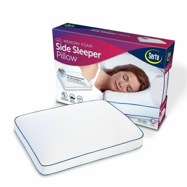 serta gel memory foam side sleeper pillow with 5yr