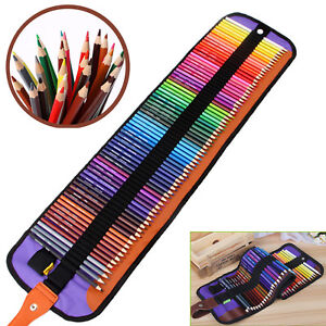 Professional Art Drawing Set Artist Sketch Paint Coloring Pencil Kit Canvas Wrap