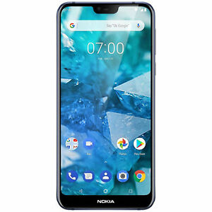 Nokia 7.1 TA-1085 64GB Unlocked GSM 4G LTE Android One Dual 12MP Phone - Blue