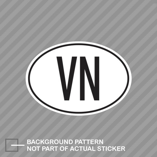 VN Vietnam Country Code Oval Sticker Decal Vinyl Vietnamese euro | eBay