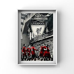 details about liverpool fc art print wall art decor lfc poster gift size a4