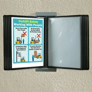 Wall mounted reference rack, flip file browser display A4 ...
