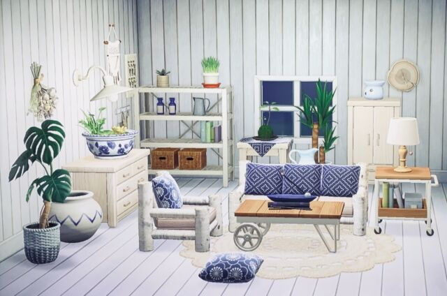 Animal Crossing New Horizons Deluxe Boho Chic Living Room ... on Animal Crossing Room Ideas New Horizons  id=86661