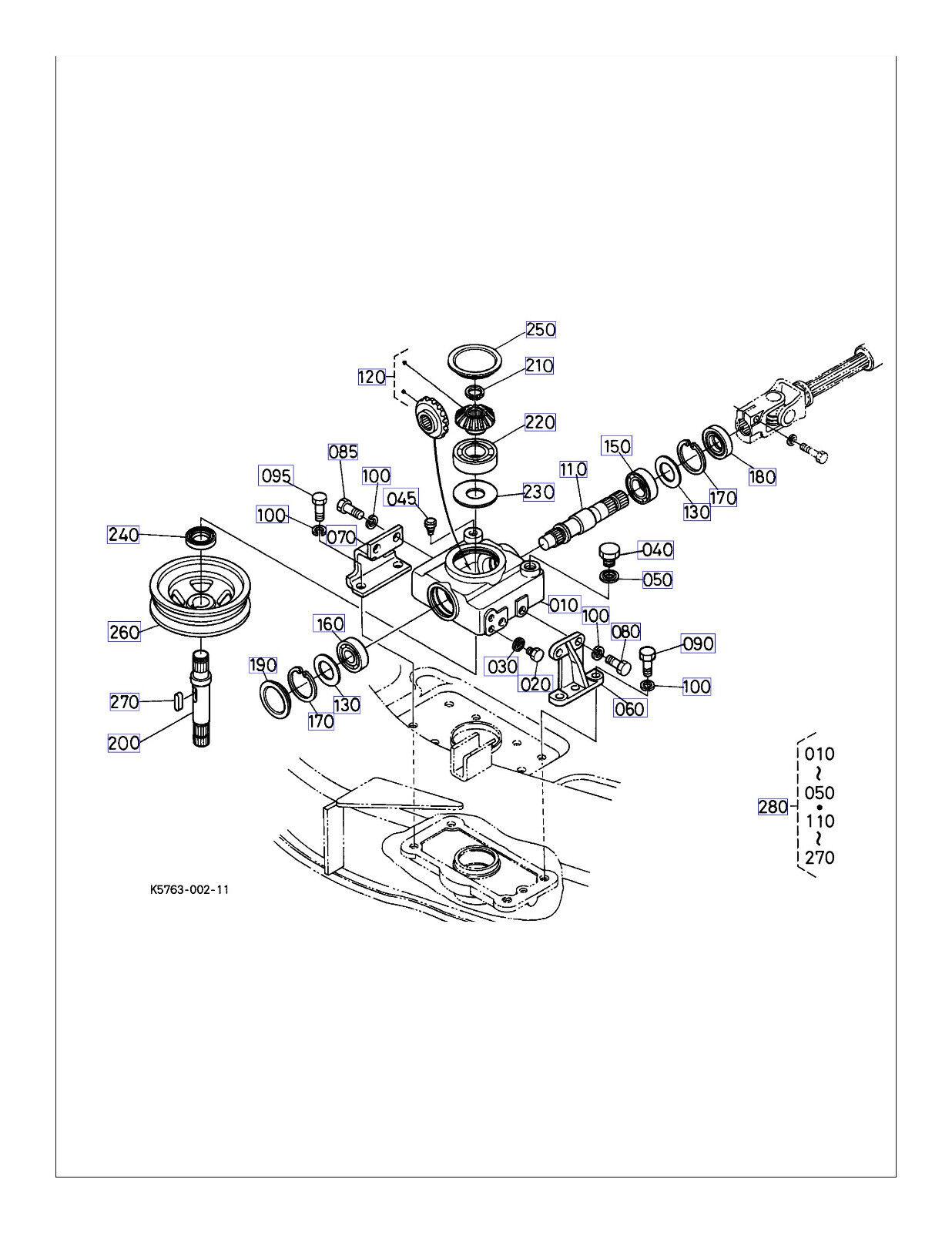 New Oem Kubota Gearbox Gear Box K K K Rck72p 331z