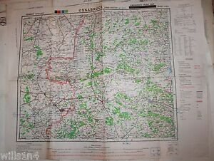 WWII US Army 29th Division Map Osnabruck Germany Emergency Road Map     Image is loading WWII US Army 29th Division Map Osnabruck Germany