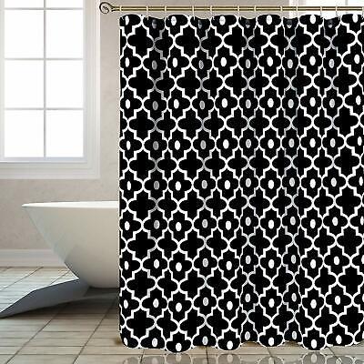 84 extra long white gray geometric