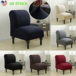 details about slipper chair slipcover stretch contemporary style armless chair accent cover us