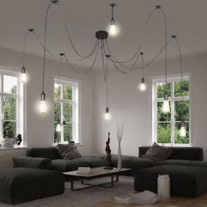 details sur design suspension plafonniers luminaire suspendu en textile lampe de salon e27