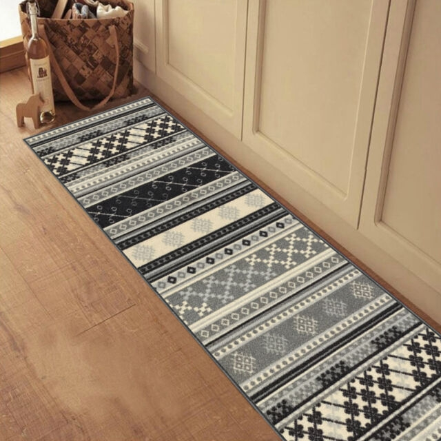 Custom Size Grey Turkish Kilim Rubber Backed Non Slip Hallway | Stair And Hallway Runners | Landing | Stair Treads | Wool | Non Slip | Images Tagged