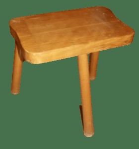 details sur ancien tabouret 3 pied deco vintage bois traite des vaches france chevre lait