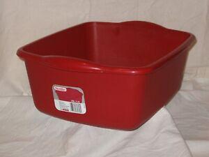 details about red kitchen sterilite 12 qt plastic twin sink dish pan wash tub basin laundry