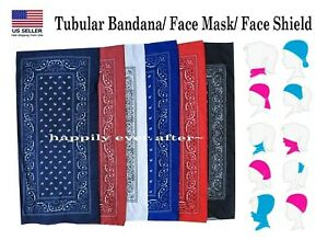 Tubular Bandanas/ Multi functional Head Wear/ Neck Warmer/ Tube Bandana *US SELL
