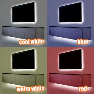 details about led strip light kit tv back lighting plasma tv games console computer lighting