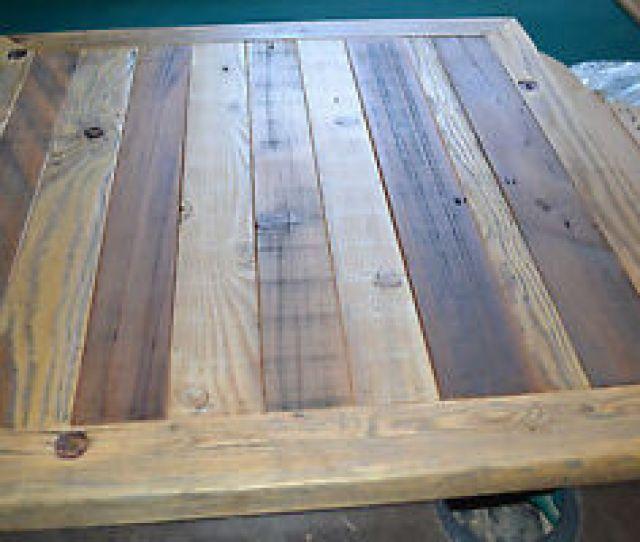 Image Is Loading Reclaimed Barn Wood Table Top 30x30 Urban Rustic
