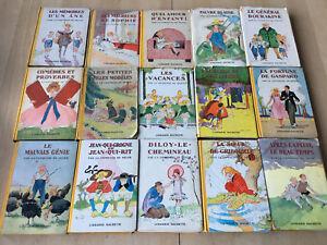 details sur lot 15 livres la comtesse de segur bibliotheque rose serie ancienne hachette