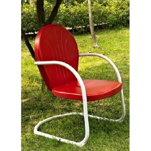 metal vintage patio lawn furniture retro clam shell chair spring base deck porch swing chair upgradelabs patio chairs swings benches