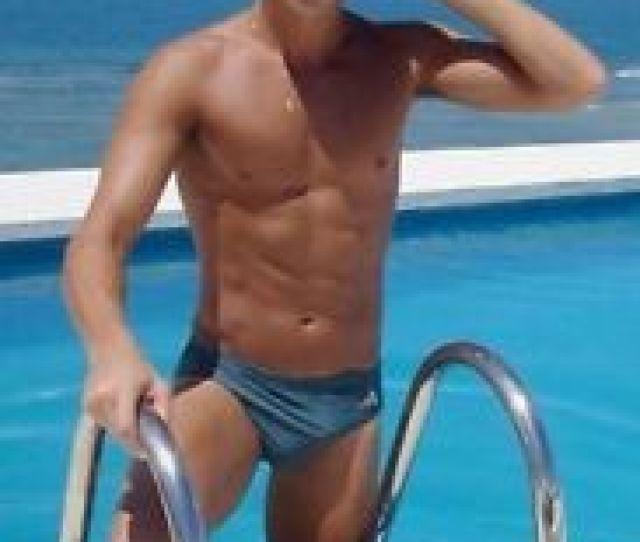Image Is Loading Shirtless Male Athletic Pool Boy Jock Blue Speedo