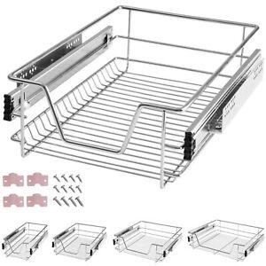 details sur panier de rangement coulissant cuisine meuble pour placard etagere tiroir