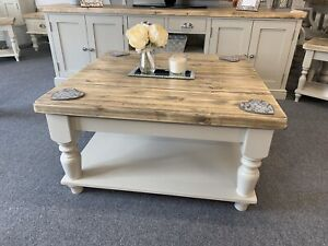 square farmhouse coffee table with