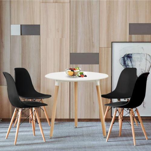details sur eggree 4 noire chaise et table a manger scandinave avec pieds en bois massif
