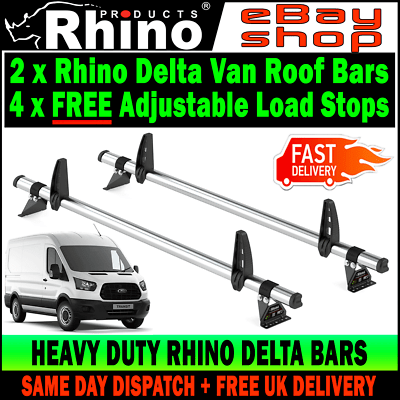 vehicle parts accessories ford transit roof rack bars x2 rhino and roller mk8 2014 2019 van l3 lwb h2 h3 car accessories