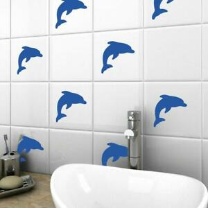 details about dolphin vinyl tile stickers nautical wall decal transfers bathroom home decor