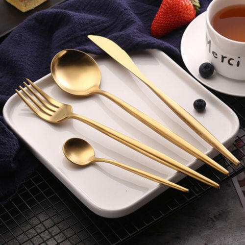 Upscale-Stainless-Steel-Knife-Fork-Spoon-Cutlery-Tableware-Dinnerware-4Pcs-Set