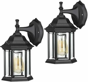 details about dewenwils 2 pack porch light dusk to dawn outdoor exterior wall light fixtures