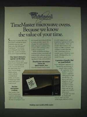 1986 whirlpool timemaster microwave oven ad ebay