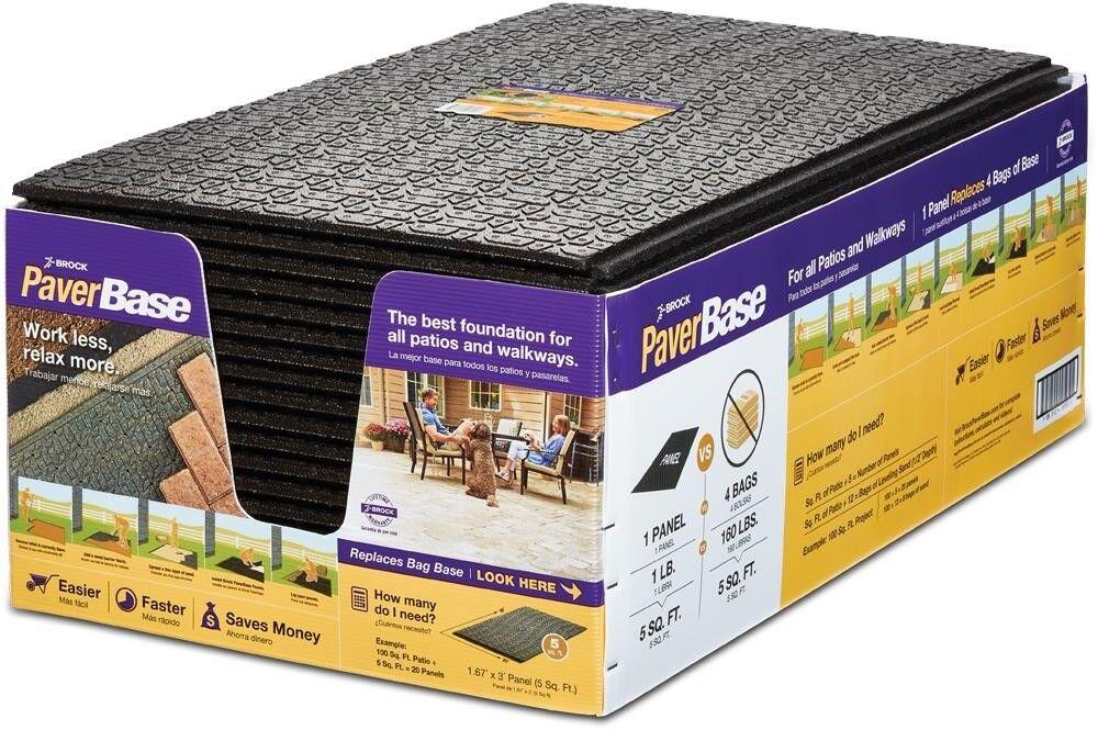 brock 345420hdb polypropylene paver base panel black