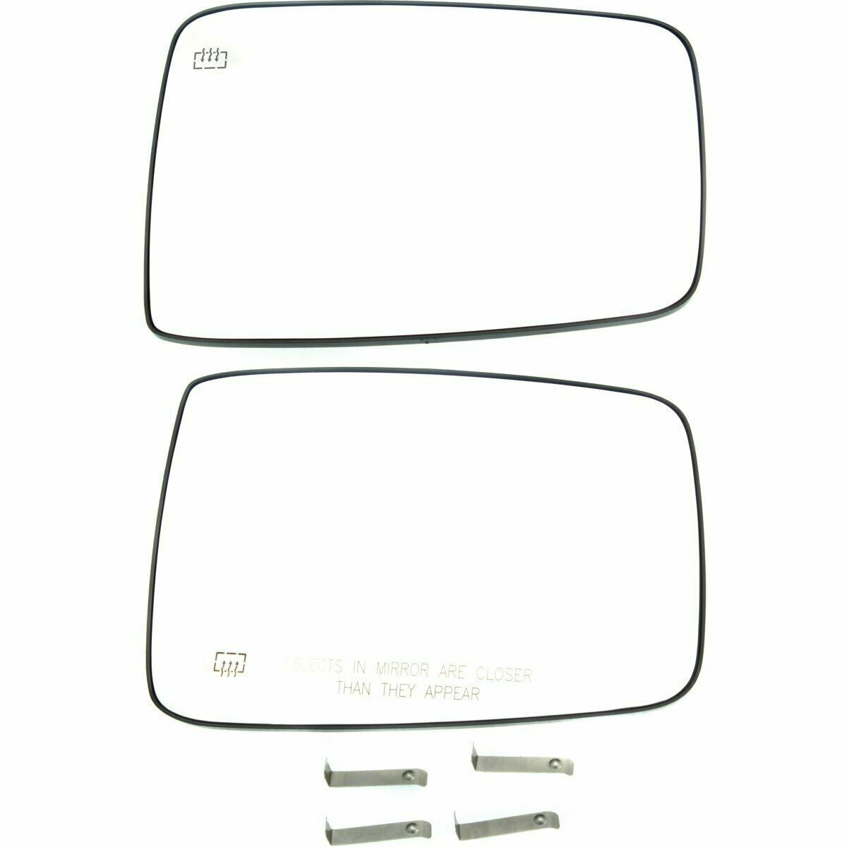 New Lh Rh Side Heated Mirror Glass Base Set For