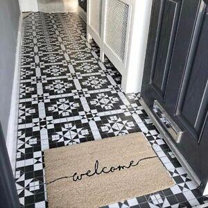 Belgrave Black White Geometric Pattern Victorian Style Wall Floor Tiles Ebay
