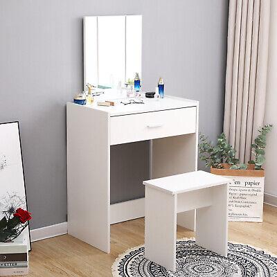 Modern White Dressing Table Makeup Vanity Desk Bedroom W Drawer Mirror Stool 711639637580 Ebay