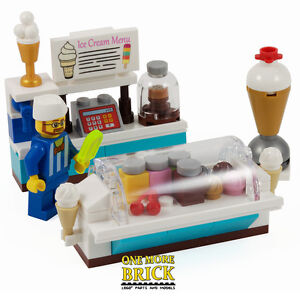 LEGO Ice Cream Shop   Summer Ice Lolly Counter with Minifigure     Image is loading LEGO Ice Cream Shop Summer Ice Lolly Counter